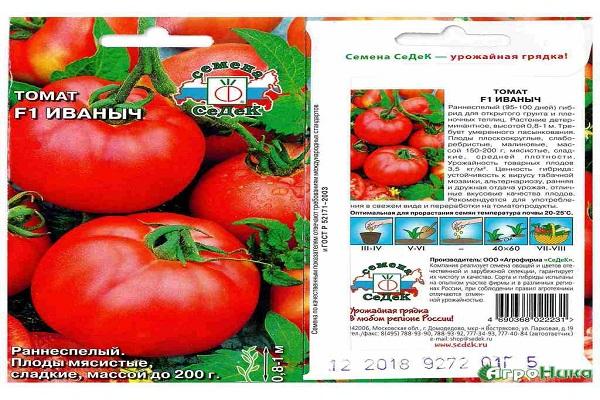 Описание и характеристики сорта томата Иваныч