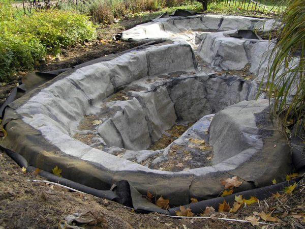 Осушение пруда своими руками