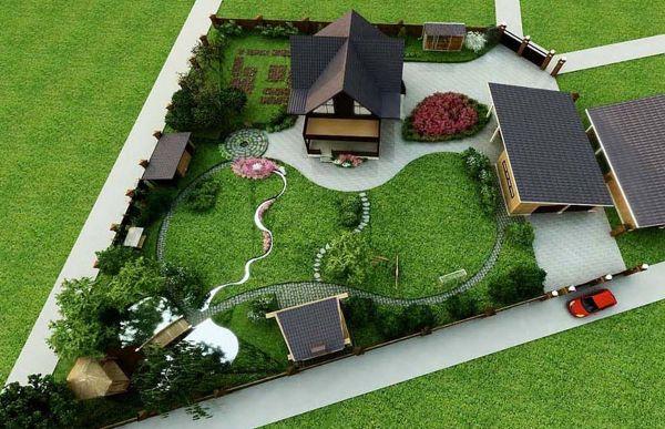 Ландшафтный дизайн дачного участка 10 соток — идеи