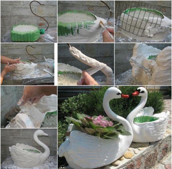 Как из бутылки сделать лебедя из 263