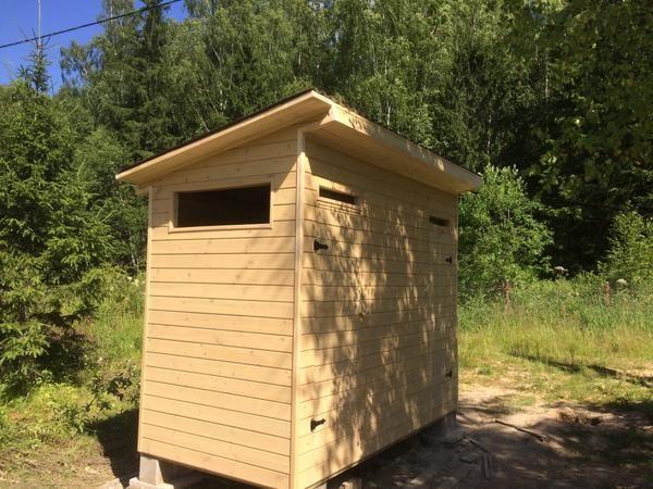 Дачный туалет с душем