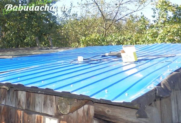 Ремонт крыши сарая